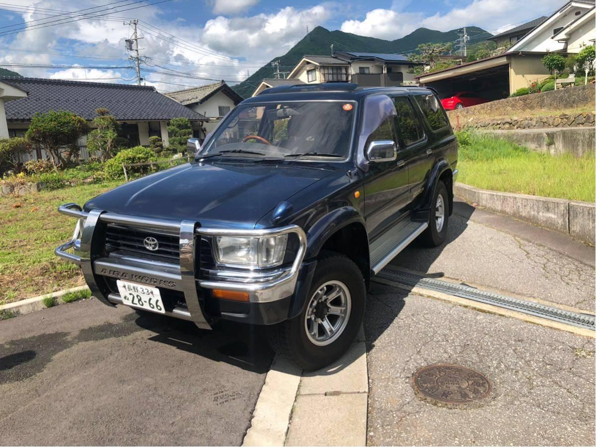 長野県 ディーゼル!4WD! KZN130W/ハイラックス サーフ SSR-X サンルーフ/ターボ