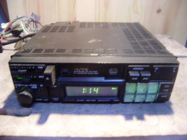 アルパイン カセットデッキ 7280J 動きました、が古い物ですのでメンテは必須です。_画像1