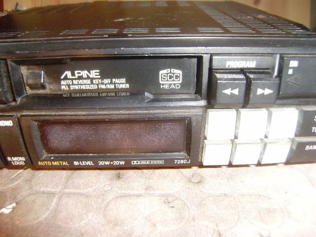 アルパイン カセットデッキ 7280J 動きました、が古い物ですのでメンテは必須です。_画像8