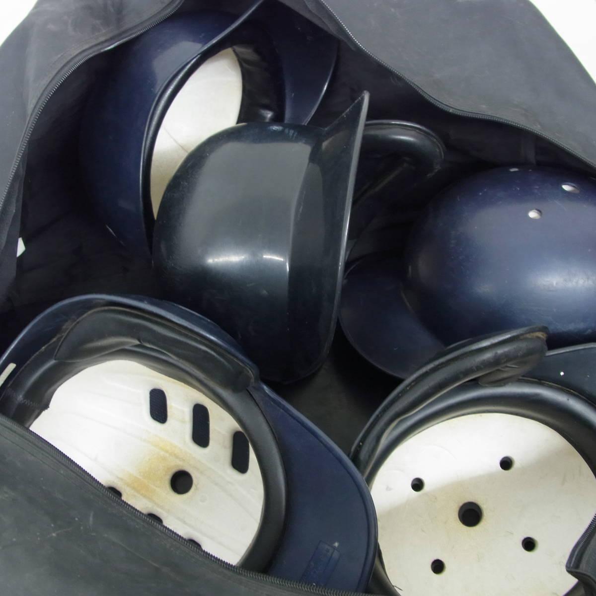 MIZUNO ミズノ ZETT ゼット 野球 ベースボール ヘルメット 5点セット J.S.B.B L×2 M×2 O×1 バッグ付き 難有特価_画像5