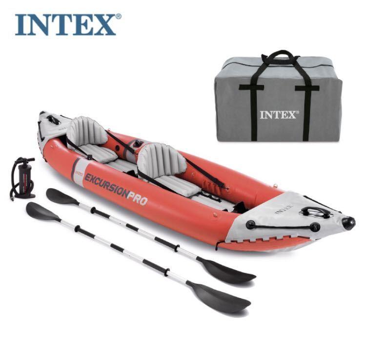 【送料無料★即決★新品】 INTEX EXCURSION PRO 2人用 カヤック kayak エクスカーションプロ アウトドア 川 釣り 海 camp インテックス_画像1