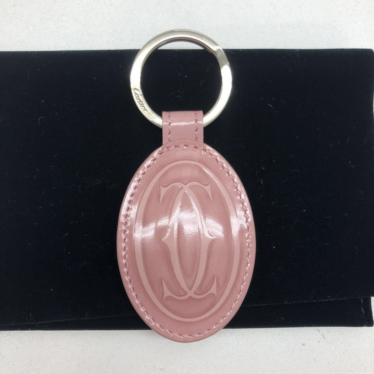 【新品未使用】Cartier カルティエ キーリング ピンク ギャラ 保存袋 冊子 外箱 _画像2