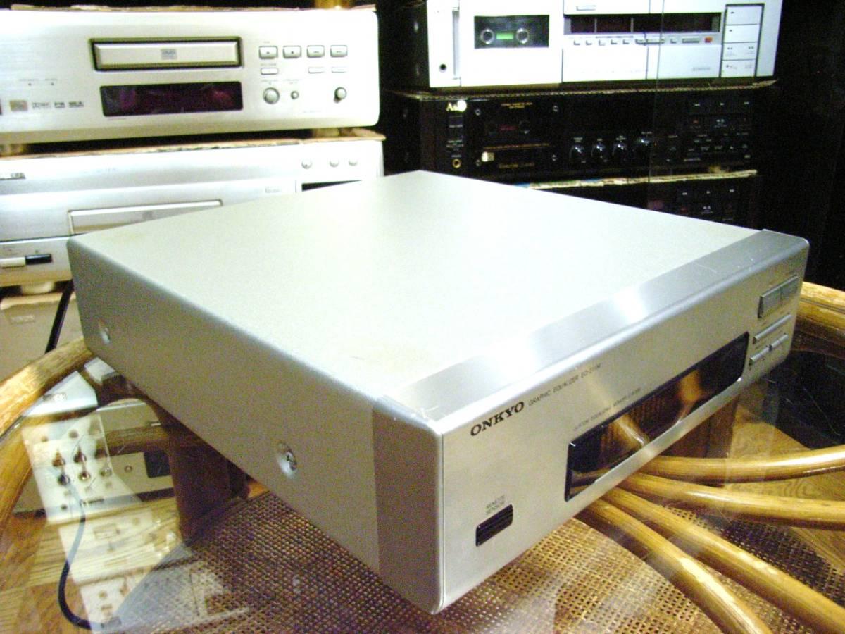 ONKYO EQ-211M STEREO GRAPHIC EQUALIZER 左右チャンネル一体 13素子構成 グラフィックイコライザー オンキョー製 作動確認メンテ済み_画像2