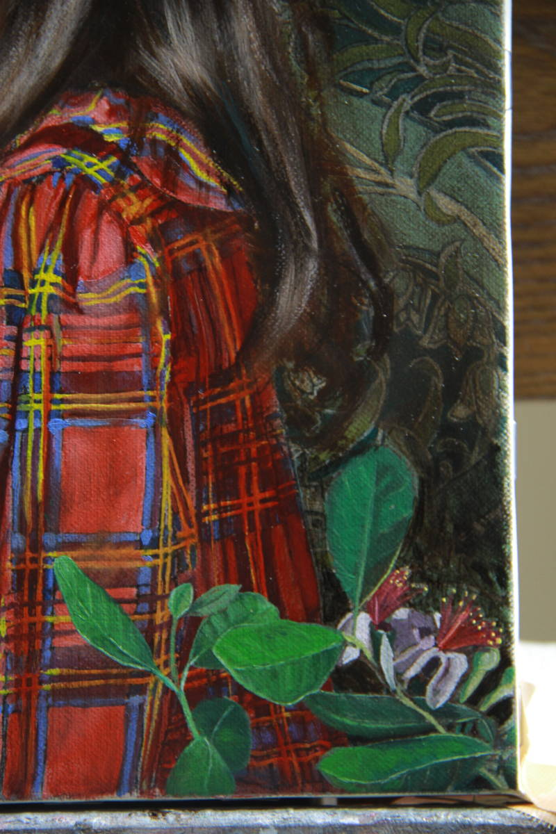 赤いチェックの服を着た少女(リラI) Hiroki Fukuda 275x190mm 2019年Arcadia ContemporaryのブースよりLA ART SHOW出品(ロサンゼルス)_画像5
