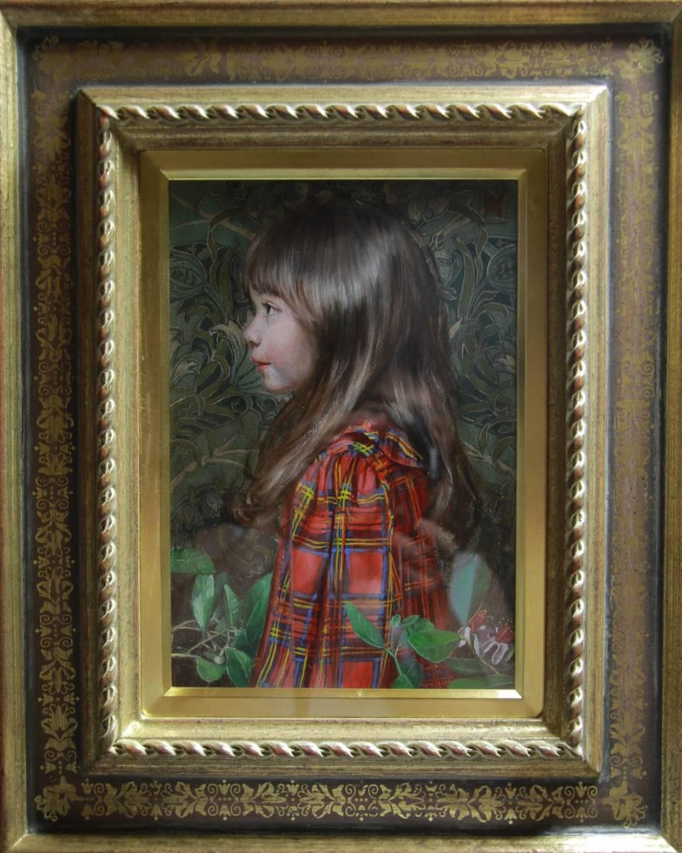 赤いチェックの服を着た少女(リラI) Hiroki Fukuda 275x190mm 2019年Arcadia ContemporaryのブースよりLA ART SHOW出品(ロサンゼルス)_画像2