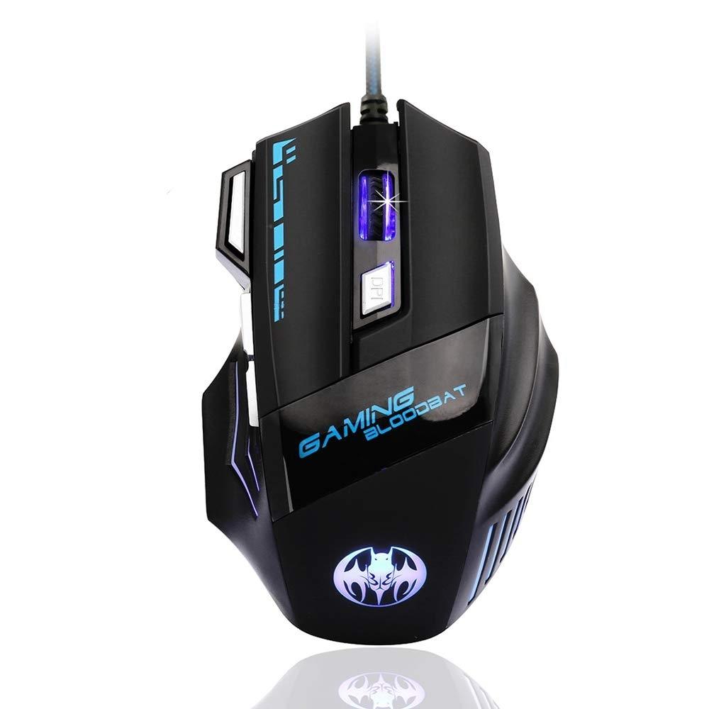 ゲーミングマウス 有線 usb DPI切り替えボタン 7ボタン 手首の痛み予防_画像1