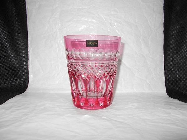 【 未使用 美品 】 HOYA CRYSTAL ロックグラス : タンブラー 切子 カットガラス
