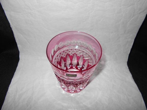 【 未使用 美品 】 HOYA CRYSTAL ロックグラス : タンブラー 切子 カットガラス_画像2