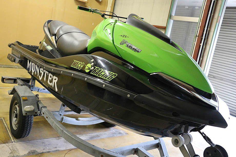 ☆kawasaki ULTRAウルトラ 250X 2007年式 300カラーリングペイント 軽トレーラーセット ジャンク扱い 愛知県名古屋市からの出品です☆