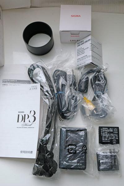 ★美品: Sigma DP3 Merrill レンズフード(LH3-01)及び バッテリー2個付属_画像8
