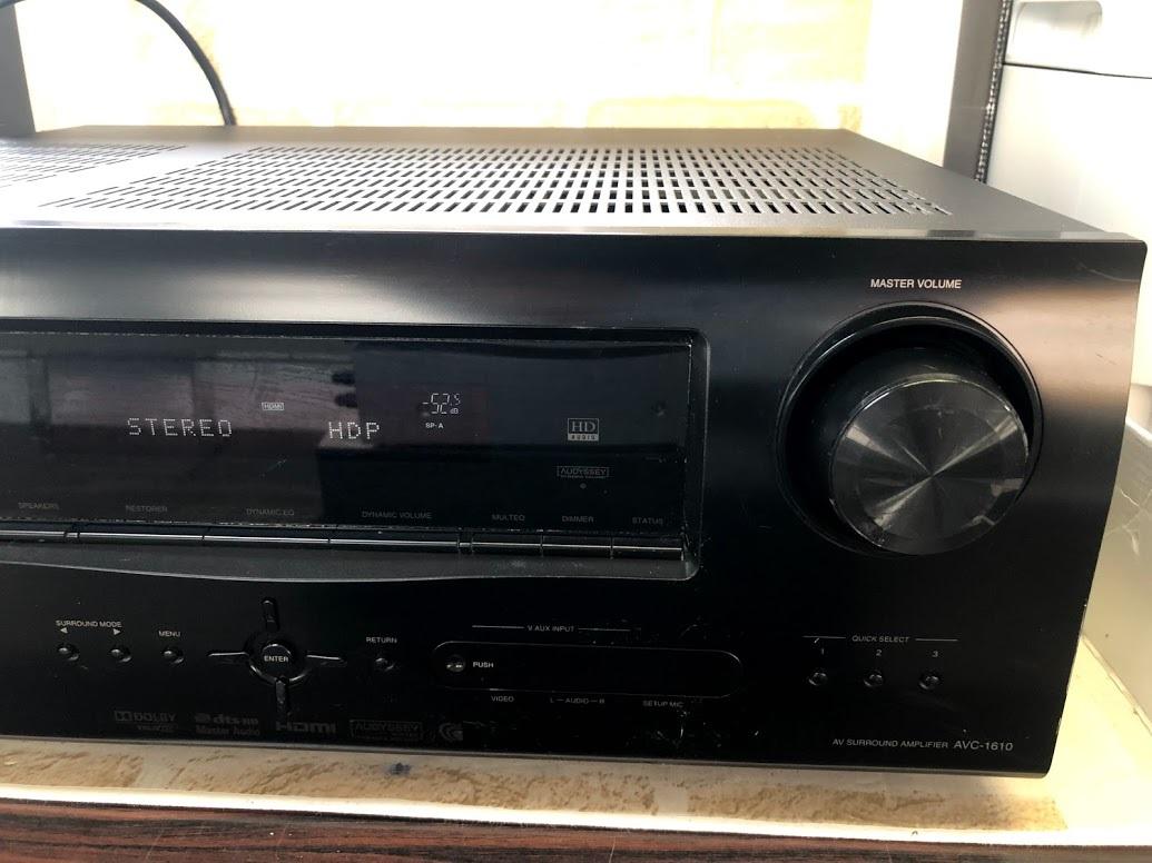 DENON/デノン  AVアンプ AVC-1610 AVサラウンドアンプ HDMI 5.1ch ドルビーサラウンド  現状中古 ジャンク扱い品(B76)_画像3