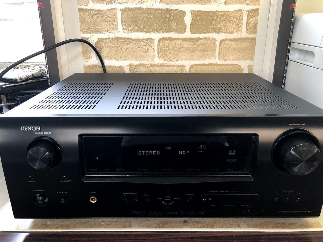 DENON/デノン  AVアンプ AVC-1610 AVサラウンドアンプ HDMI 5.1ch ドルビーサラウンド  現状中古 ジャンク扱い品(B76)_画像1