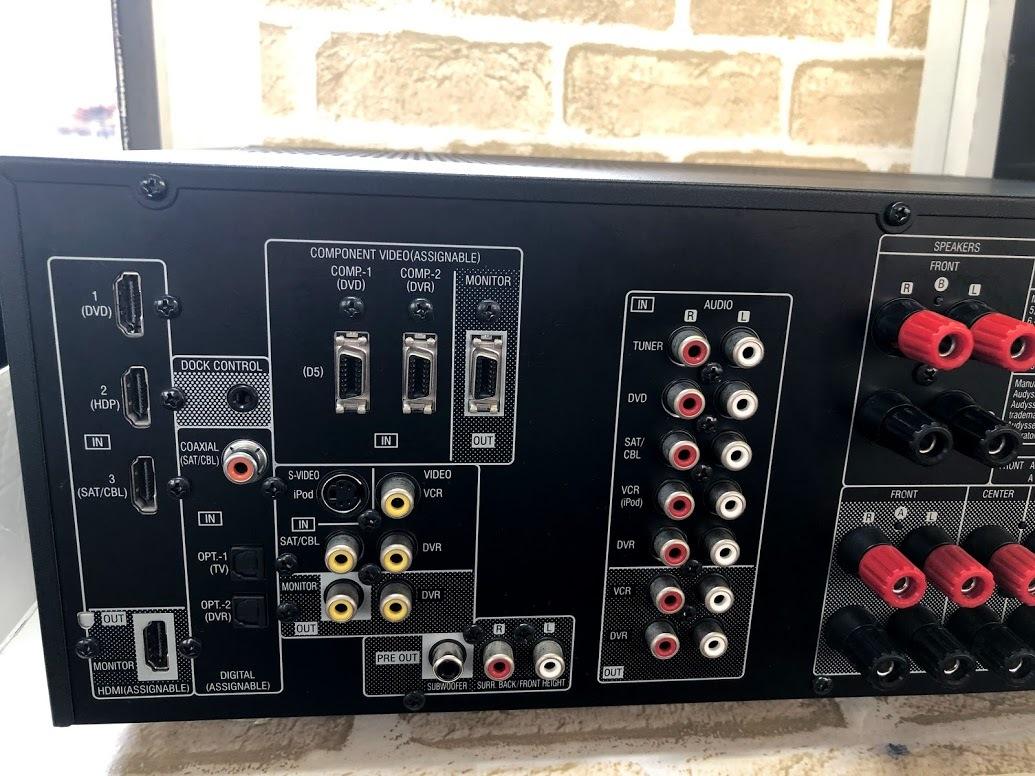 DENON/デノン  AVアンプ AVC-1610 AVサラウンドアンプ HDMI 5.1ch ドルビーサラウンド  現状中古 ジャンク扱い品(B76)_画像6