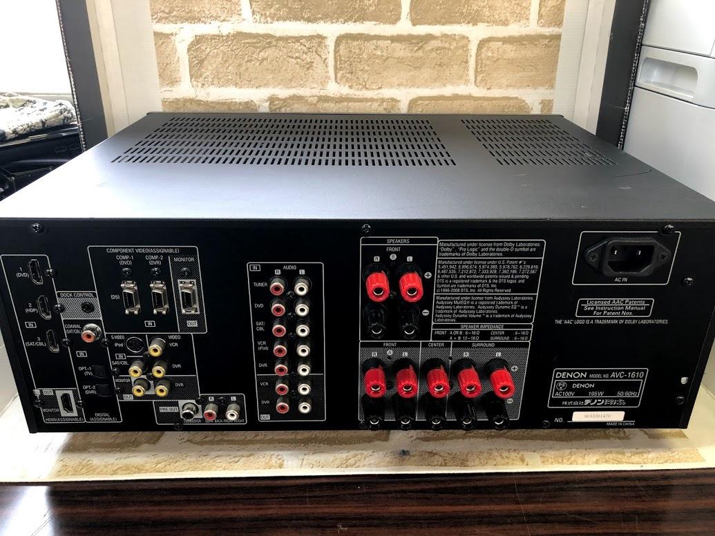DENON/デノン  AVアンプ AVC-1610 AVサラウンドアンプ HDMI 5.1ch ドルビーサラウンド  現状中古 ジャンク扱い品(B76)_画像5