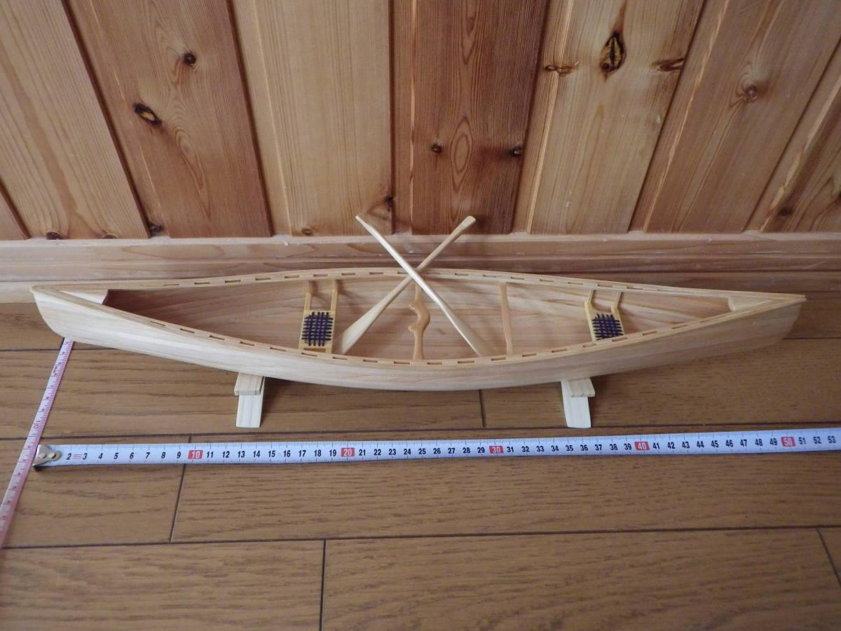 【セミオーダー】手作り カヌー模型 1/10 プロスペクター_画像3