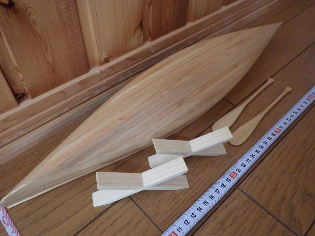 【セミオーダー】手作り カヌー模型 1/10 プロスペクター_画像4