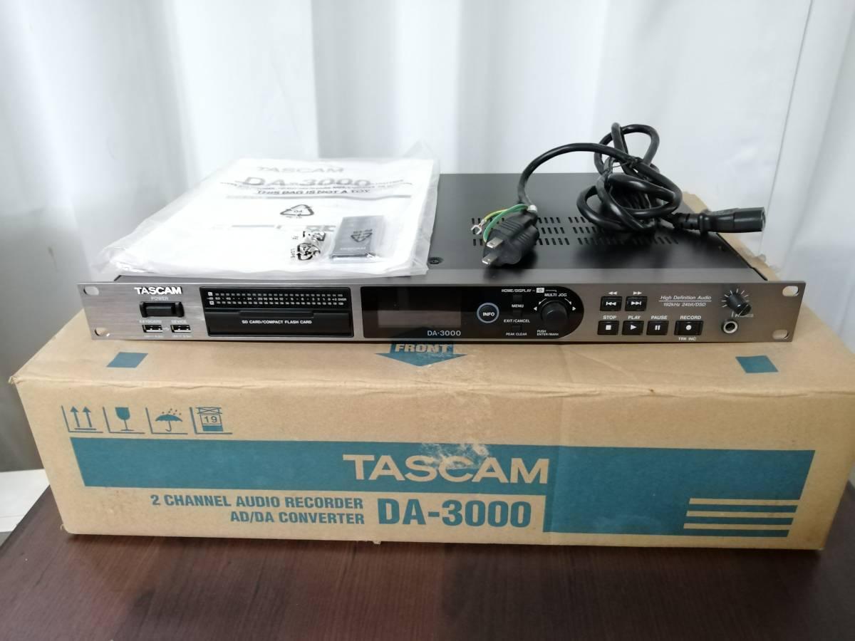 【1度だけ使用の新品同様】TASCAM DA-3000 マスターレコーダー/ADDAコンバーター タスカム 元箱・取扱説明書・リモコン付
