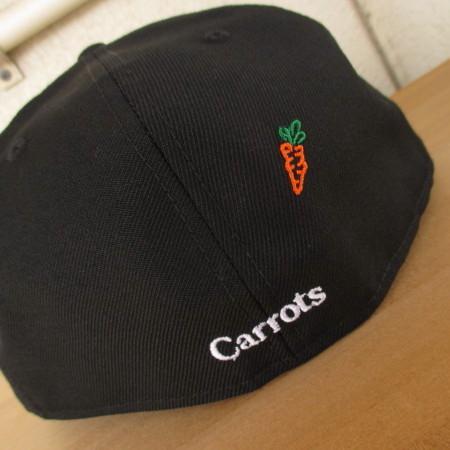 必見!超激レア&入手困難ブランド!コラボモデル!CARROS BY ANWAR CARROTS(USA)×NEW ERA(USA)LOGO FITTED CAP(ブラック)_画像6