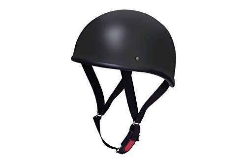 バイクパーツセンター ヘルメット ハーフ ダックテール マットブラック 711805 XL (頭囲 61cm~62cm未満)