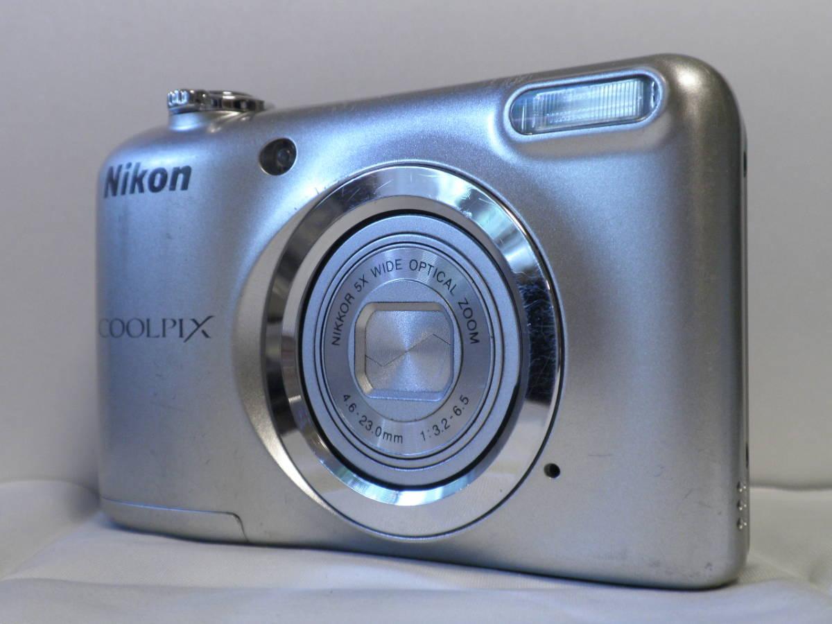 単三仕様 デジカメ Nikon COOLPIX A10 シルバー (16.14メガ) 4818