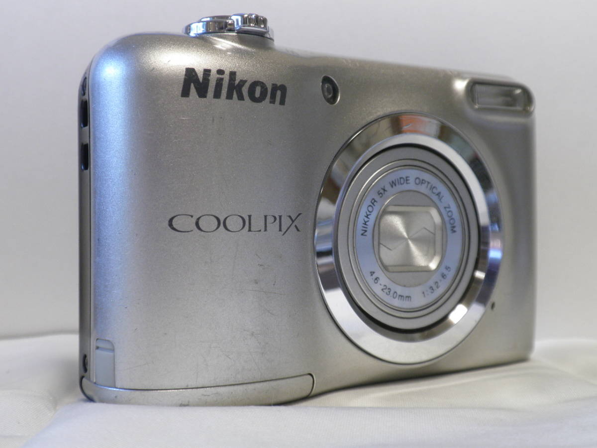 単三仕様 デジカメ Nikon COOLPIX A10 シルバー (16.14メガ) 4818_画像3