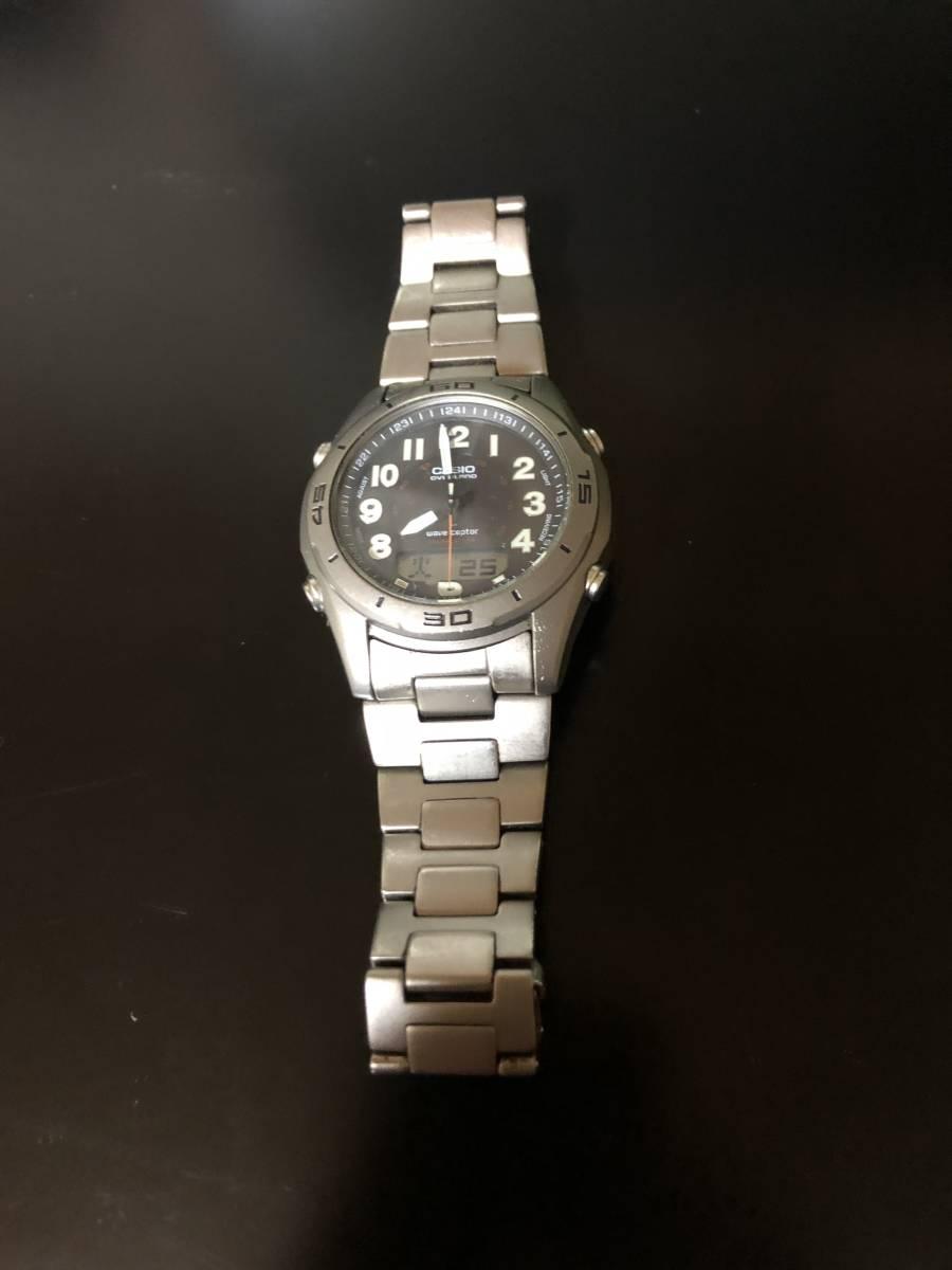 【送料込み】カシオ 電波ソーラー腕時計 チタン製 オーバーランド CASIO OVERLAND OAW-100【最落なし/格安スタート】