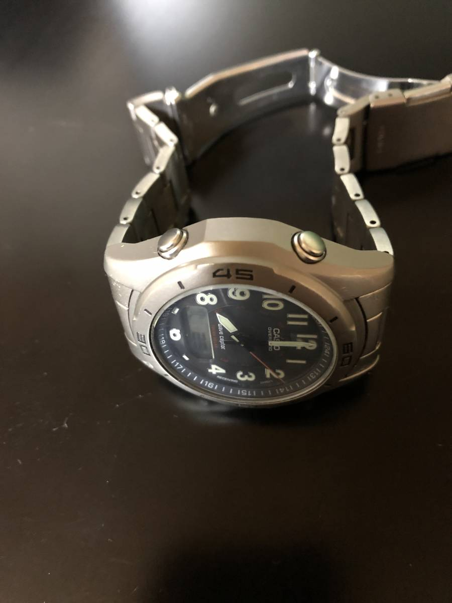 【送料込み】カシオ 電波ソーラー腕時計 チタン製 オーバーランド CASIO OVERLAND OAW-100【最落なし/格安スタート】_画像5