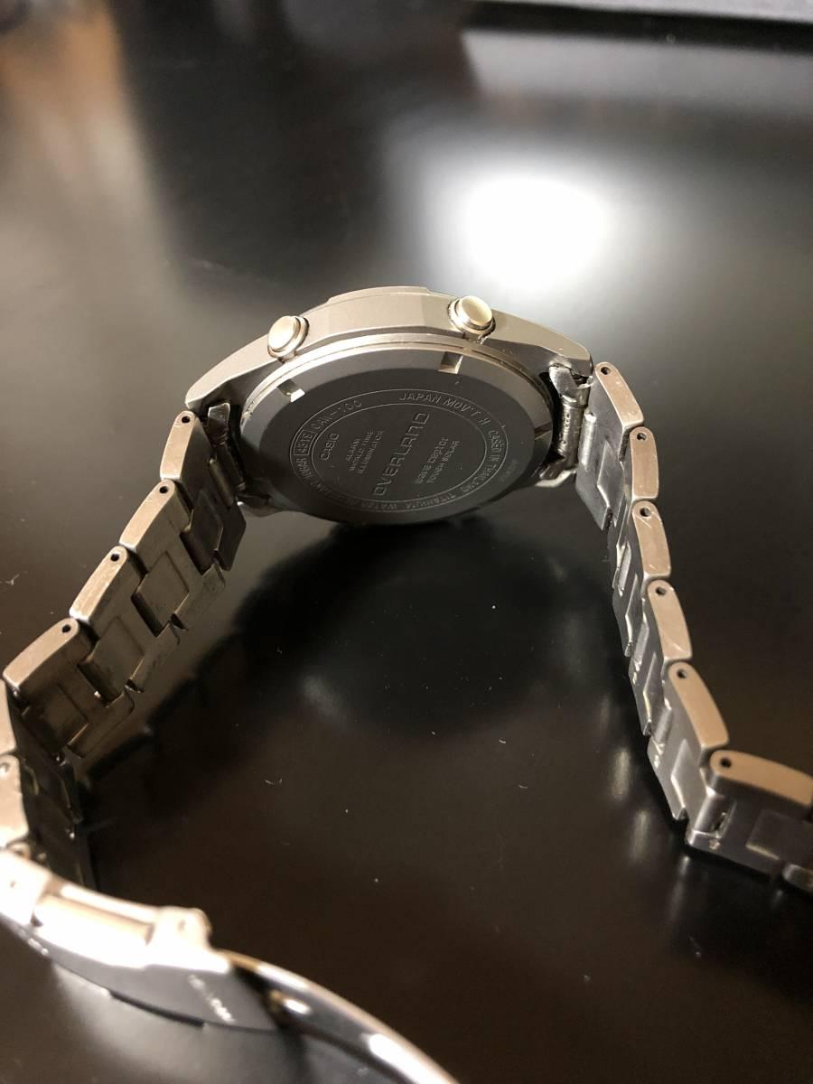 【送料込み】カシオ 電波ソーラー腕時計 チタン製 オーバーランド CASIO OVERLAND OAW-100【最落なし/格安スタート】_画像6