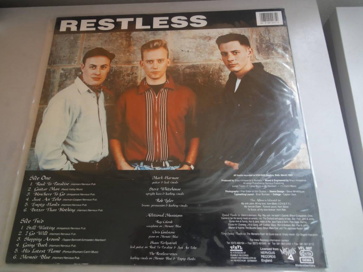 ★RESTLESS LP オリジナル盤 カラー盤 ネオロカ サイコビリー エルヴィスのカヴァー FRENZY パンク CLASH レア盤 RANCID 666 ロカビリー_画像2