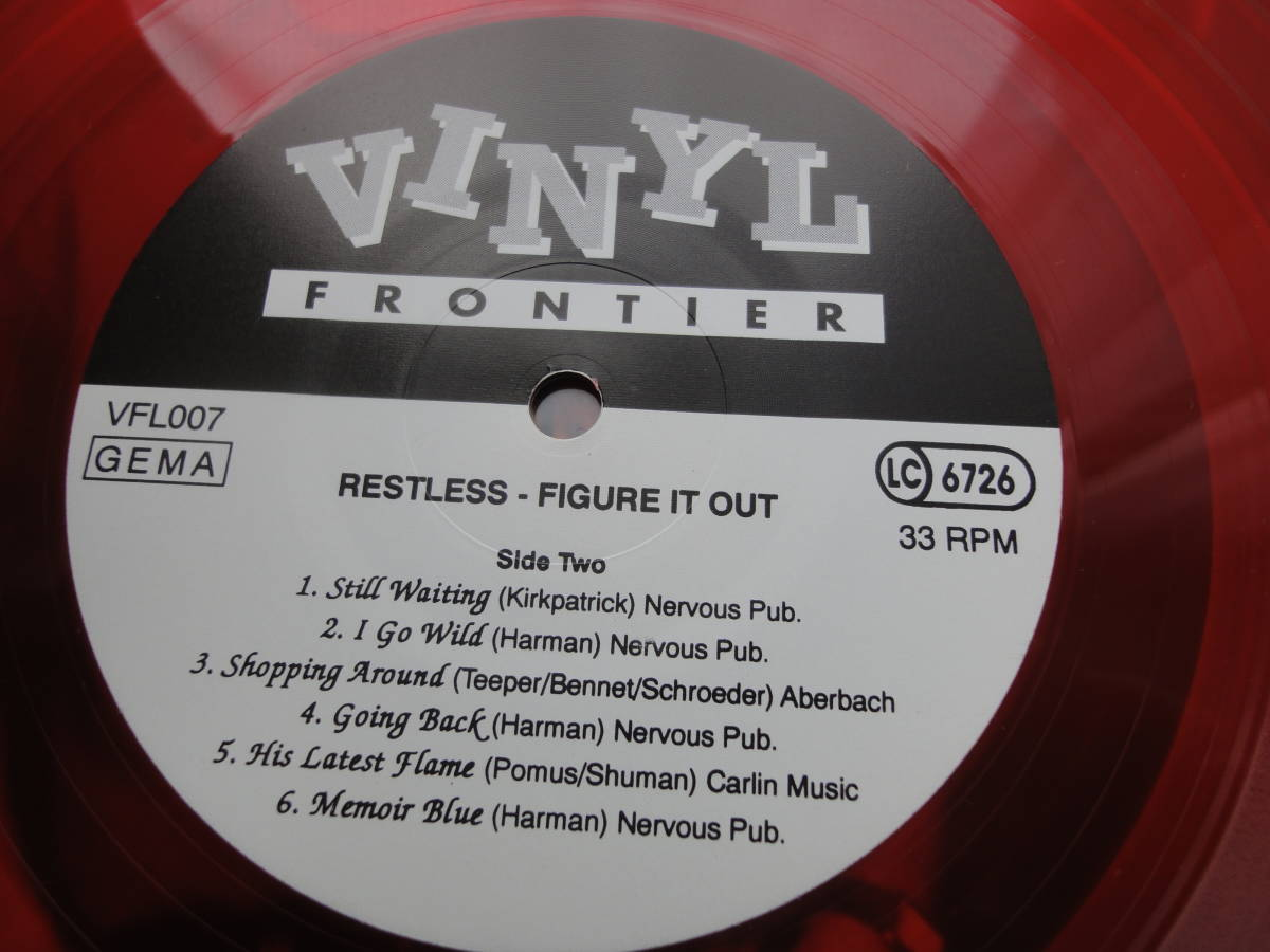 ★RESTLESS LP オリジナル盤 カラー盤 ネオロカ サイコビリー エルヴィスのカヴァー FRENZY パンク CLASH レア盤 RANCID 666 ロカビリー_画像8