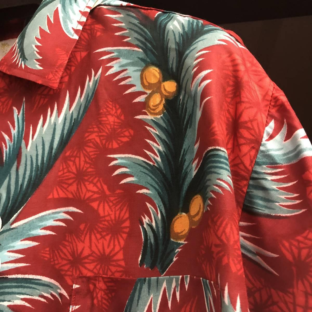 Special 50s 60s ビンテージ デッドストック アロハシャツ 50年代 ロカビリー オリジナル レーヨン dead stock ハワイアン シャツ 開襟_画像3