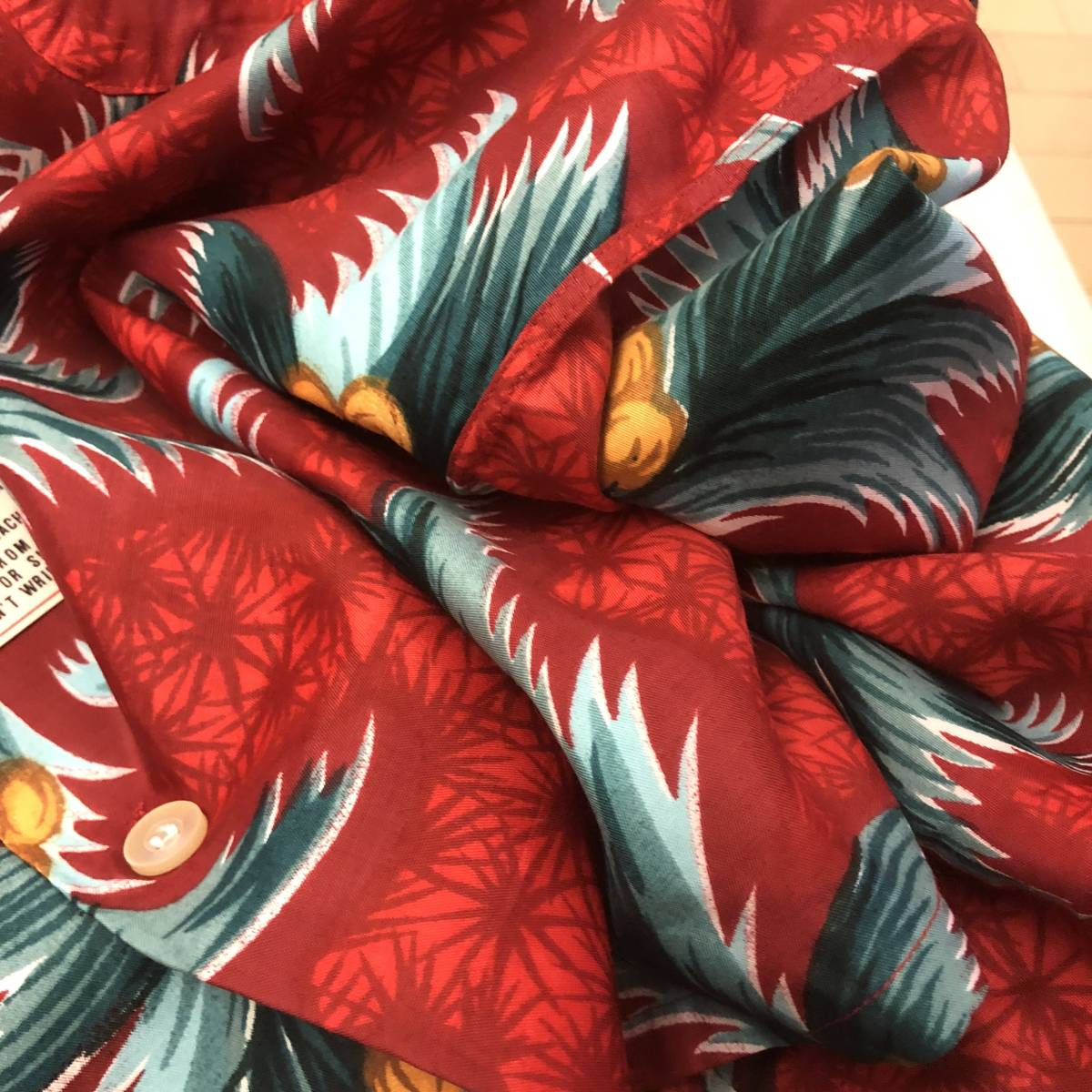 Special 50s 60s ビンテージ デッドストック アロハシャツ 50年代 ロカビリー オリジナル レーヨン dead stock ハワイアン シャツ 開襟_画像8