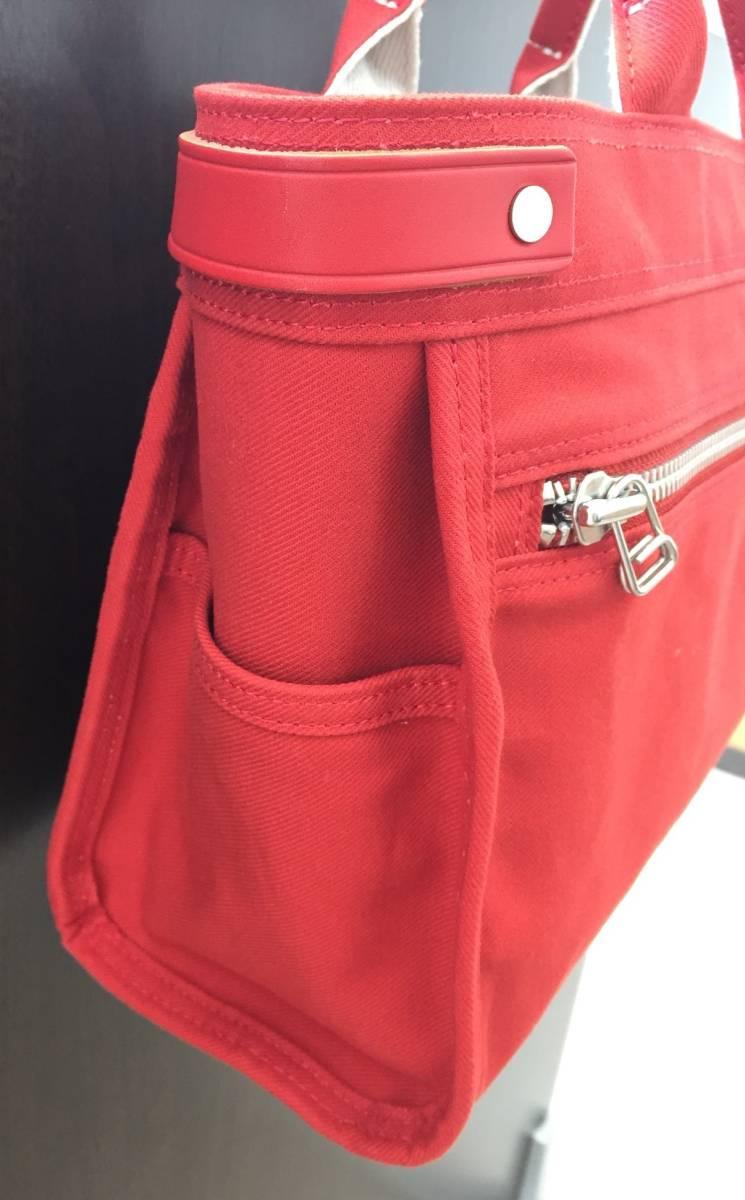★【13410】1スタ~美品 PORTER GIRL/ポーター ガール ハンドバッグ  鞄/かばん RED/赤_画像4