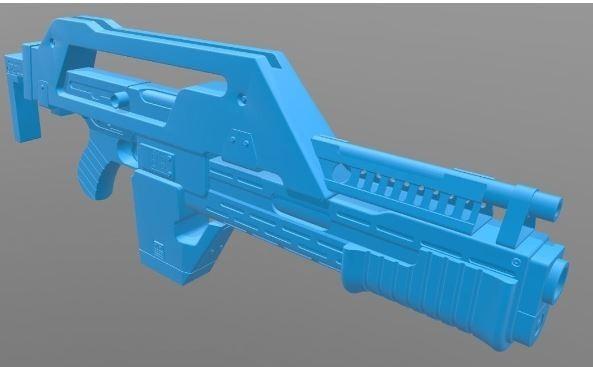 ☆エイリアン2 植民地海兵隊M41パルスライフル 3Dレジン製未組立 解説書付_画像7