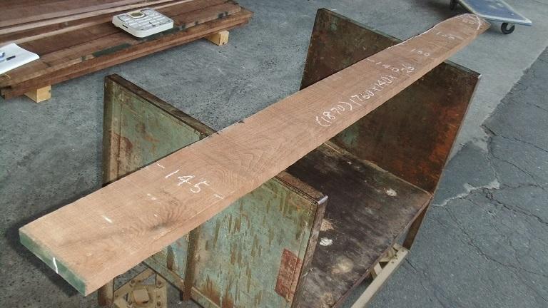 【小さな大工さん】【木っ端クラブ】Bウォールナット ラフ材 1760×140×26㎜ 人乾材 DIY 1番