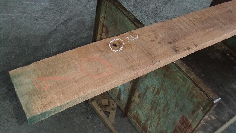 【小さな大工さん】【木っ端クラブ】Bウォールナット ラフ材 1760×140×26㎜ 人乾材 DIY 1番_画像6