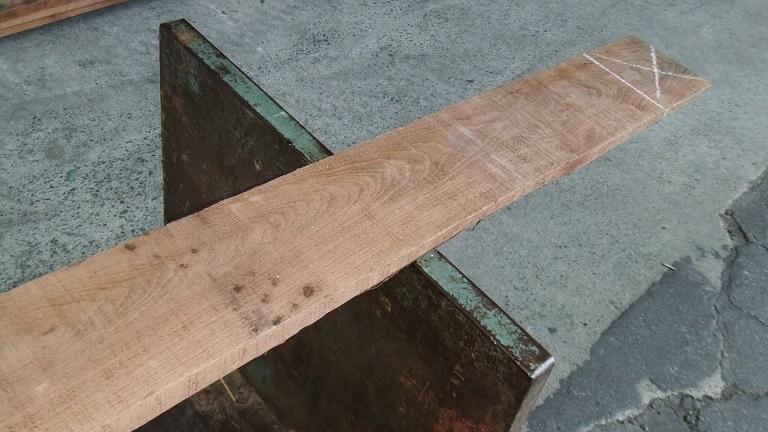 【小さな大工さん】【木っ端クラブ】Bウォールナット ラフ材 1760×140×26㎜ 人乾材 DIY 1番_画像8