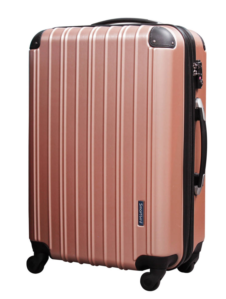 1円~V18C級アウトレット新品未使用5033大型Lサイズスクラッチローズ金スーツケースキャリー旅行バッグ幅拡張式TSAロック6泊~