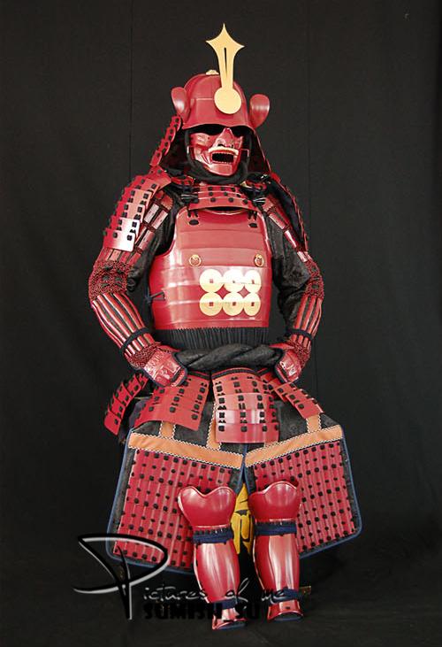 【前売・製作工期15日間】◆甲冑美品◆KJ-W471日本武士甲冑◆等身大◆映画道具◆COSPLAY服装道具◆具足鎧兜武具