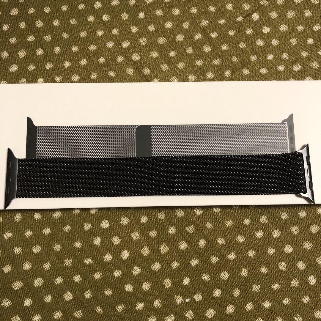 Apple Watch 42mm/44mm用ミラネーゼループ バンド Series4 アップルウォッチ スペースブラック_画像2