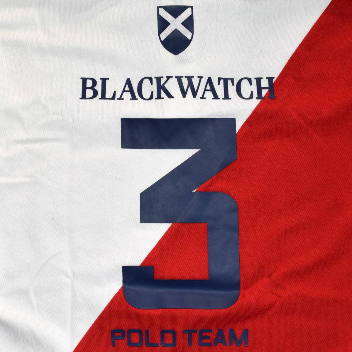 送料無料!美品!◆ポロラルフローレン◆S ポロシャツ BLACK WATCH/POLO TEAM 白/紺/赤■CUSTOM SLIM FIT_画像7
