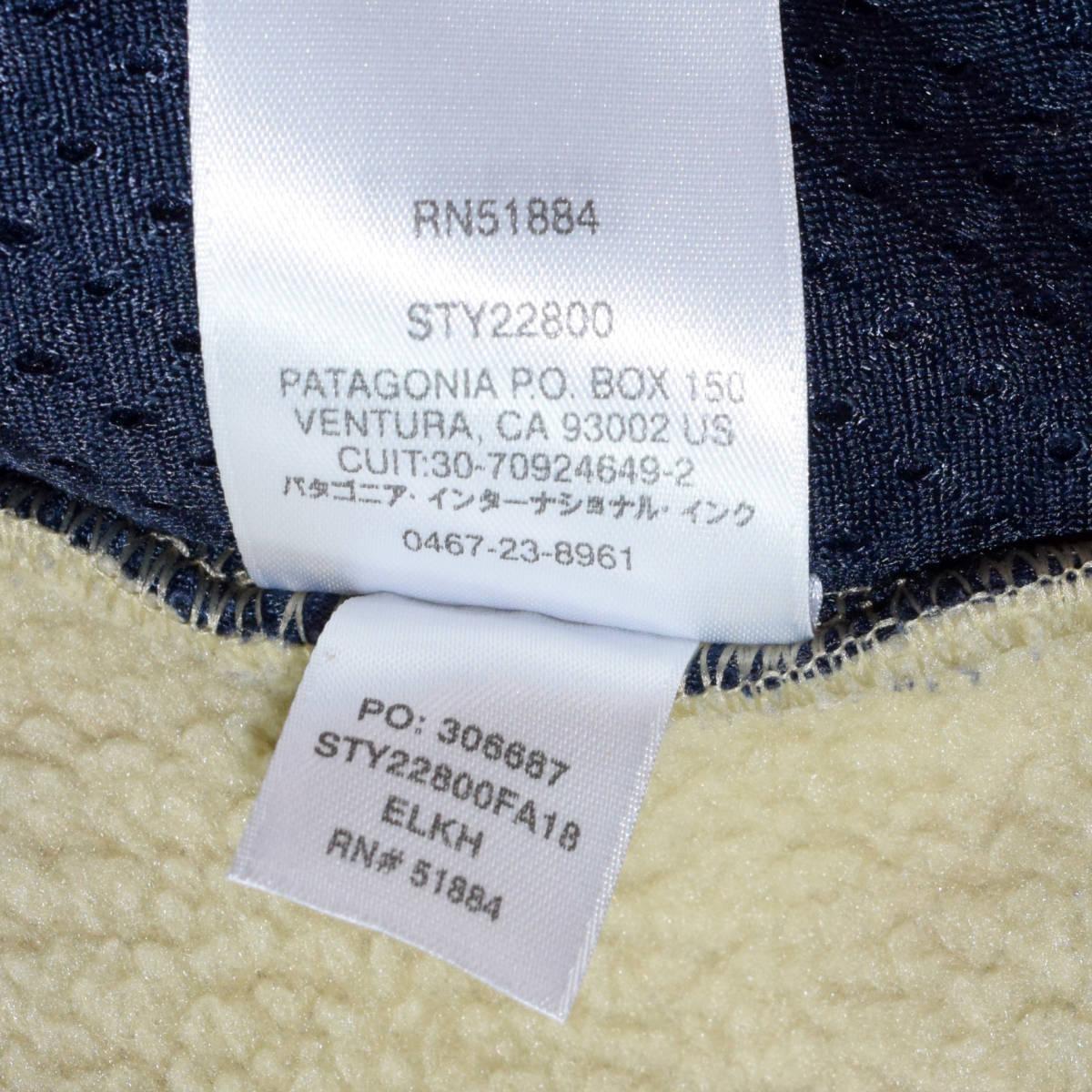 送料無料!人気カラー patagonia パタゴニア MEN'S retro pile jacket S サイズ レトロパイル ジャケット レトロX 希少22800FA18 ELKH_画像9