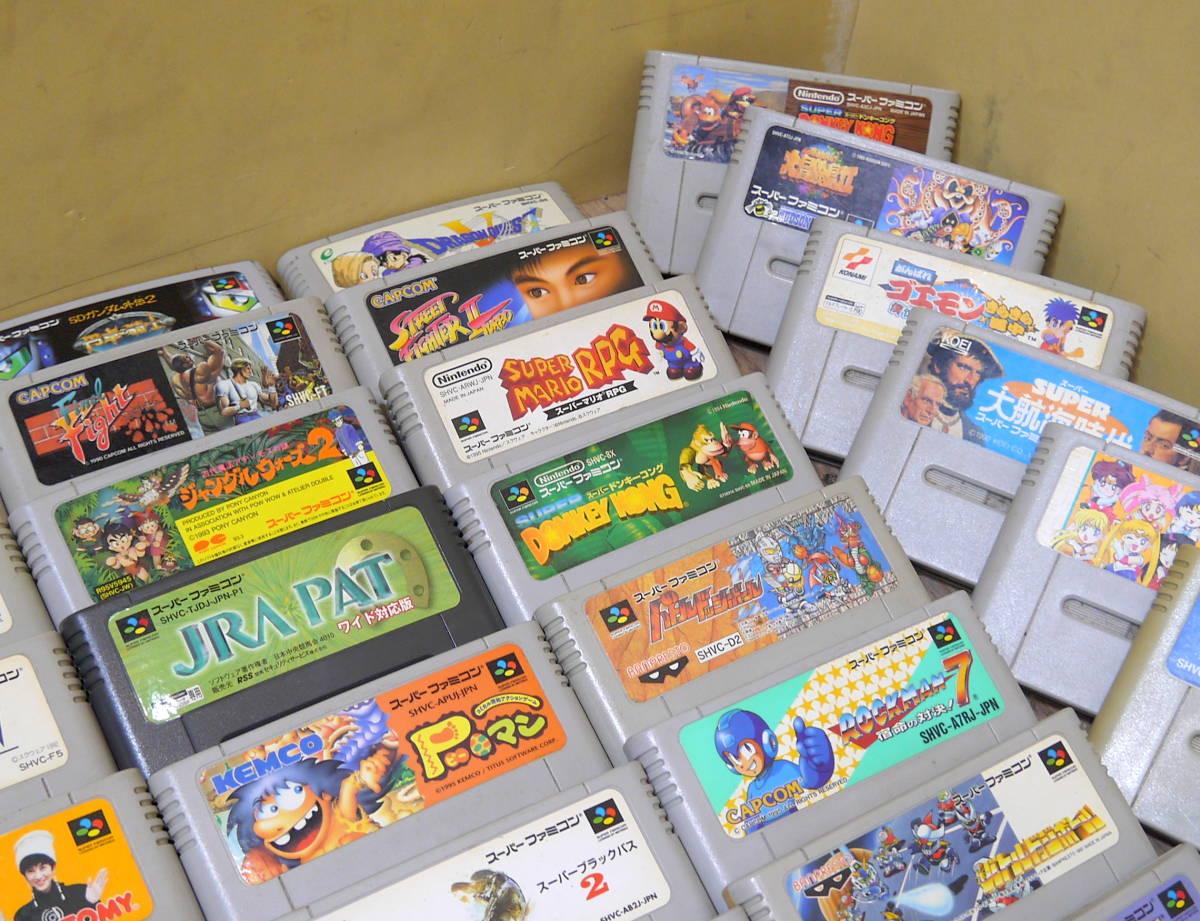 現状品 SFC スーパーファミコン ゲームソフト 79本大量まとめて セット/まとめ売り スーファミ_画像6