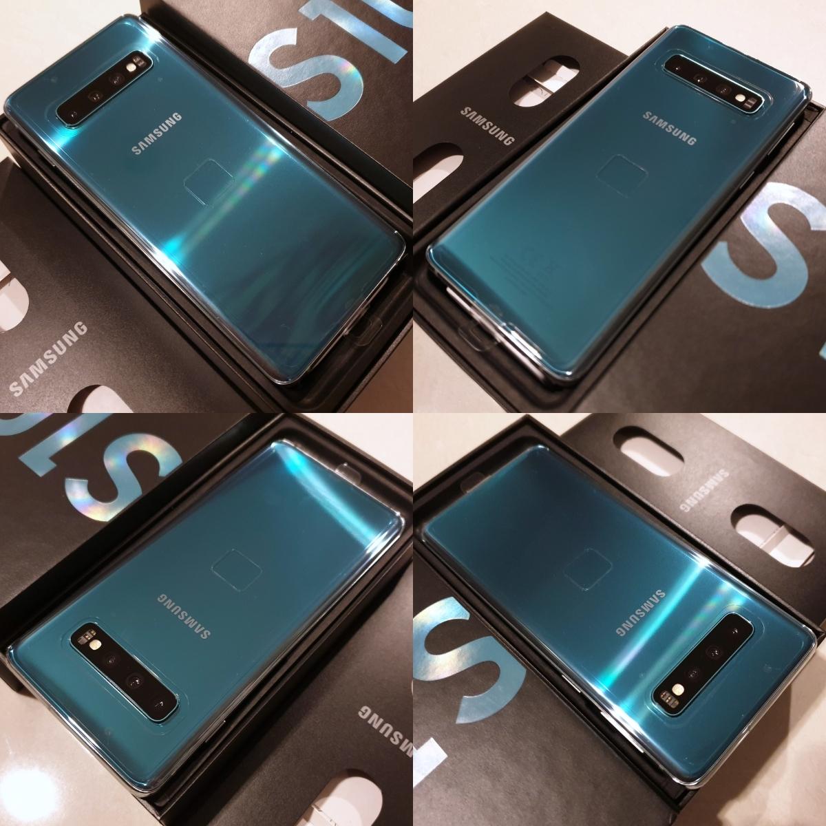 日本未発売 レア色 新品 未使用 グローバル版 simフリー Samsung Galaxy S10 SM-G973F/DS 128GB Dual Sim Prism Green プリズムグリーン_画像4
