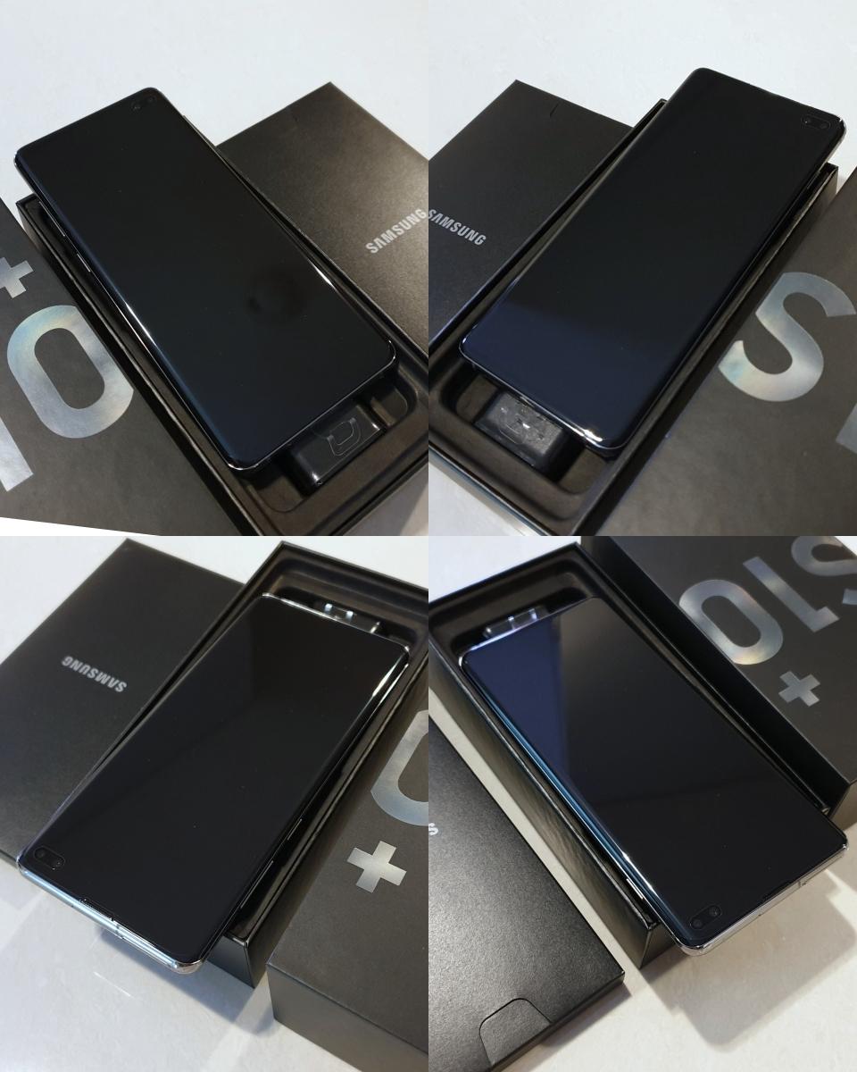 新品 未使用 送料込み Samsung Galaxy S10+ Plus Snapdragon 855 SM-G975U1 128GB Prism Black プリズムブラック simフリー_画像6