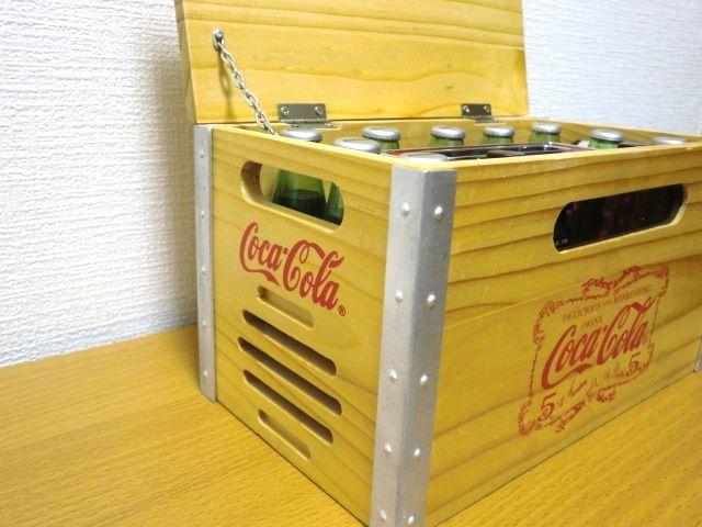 Coca-Cola Wood Crate AM/FM Clock Radio Miniature Bottles コカコーラ 木製 AM/FMラジオ 目覚まし時計_画像5