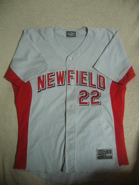 良品 中国製 ローリングス NEW FIELD/22 カージナルスカラー ベースボールユニフォーム 灰赤 O_画像1