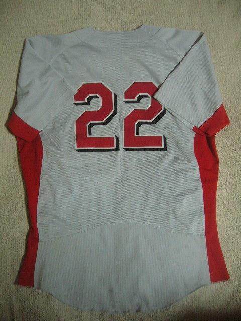 良品 中国製 ローリングス NEW FIELD/22 カージナルスカラー ベースボールユニフォーム 灰赤 O_画像2