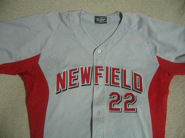 良品 中国製 ローリングス NEW FIELD/22 カージナルスカラー ベースボールユニフォーム 灰赤 O_画像3