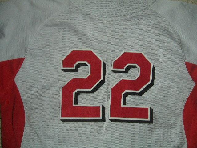 良品 中国製 ローリングス NEW FIELD/22 カージナルスカラー ベースボールユニフォーム 灰赤 O_画像4